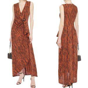 NWOT Ronny Kobo Zebra Print Linen-blend Maxi Dress